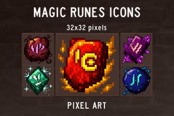 Magic Runes Pixel Art Icon Pack