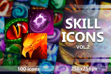 100 Skill Game Icons