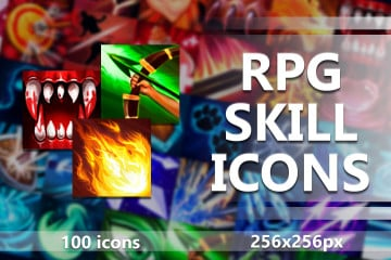 100 Skill Icons Pack for RPG