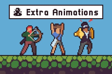 3 Character Sprite Sheets Additional Animation Set