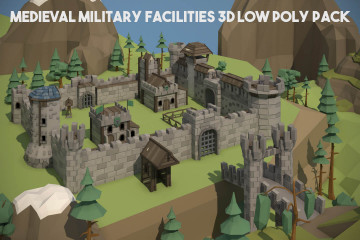 Medieval Fortress Pack 3D Low Poly Models