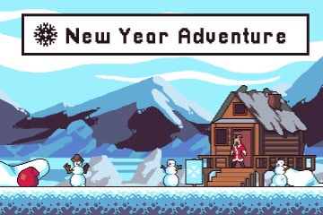 New Year Adventure Game Asset Pixel Art Pack