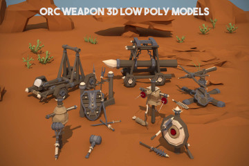 Orc Weapon 3D Low Poly Models