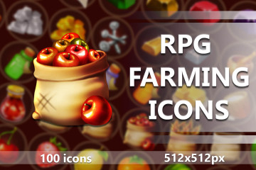 RPG Farming Icons Set