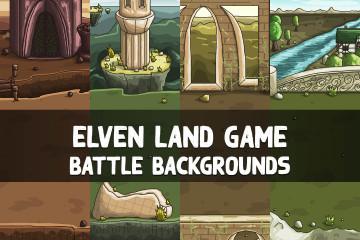 Free Elven Land Game Battle Backgrounds