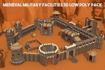 Orc Fortress 3D Low Poly Models
