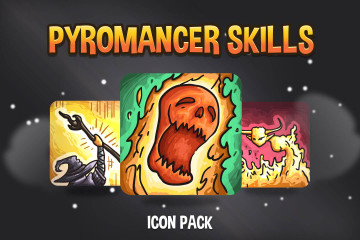 Pyromancer Skills Game Icons Pack
