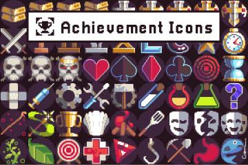Achievement Icons Pixel Art Pack
