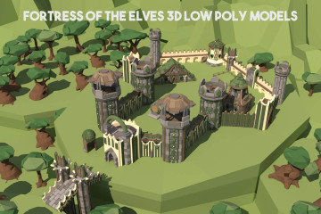 Fortress of the Elves 3D Low Poly Models