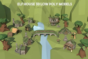 Free Elf House 3D Low Poly Models