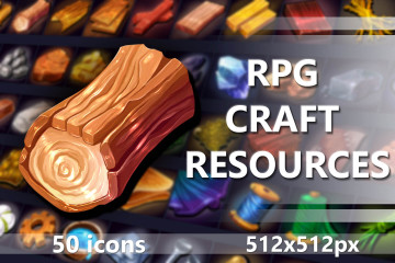 RPG Craft Resources Game Icons Pack