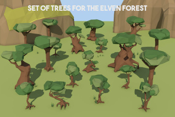 Tree 3D Low Poly Models