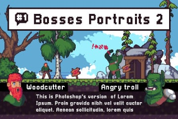 Free Field Boss Portraits Pixel Art
