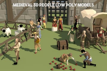 Free Medieval 3D People Low Poly Models