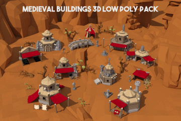 Orc Settlement 3D Low Poly Models