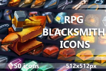 RPG Blacksmith Game Icons