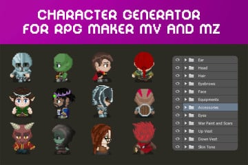 RPG Character Sprite Sheet Generator