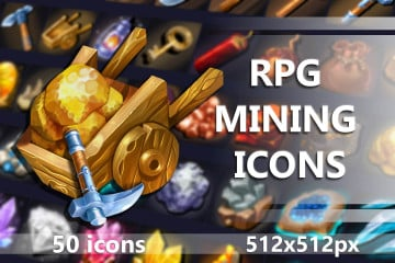 50 RPG Mining Icons