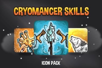 Cryomancer Skill RPG Icon Pack