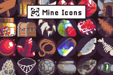 Free Pixel Art Icons for Mine Location