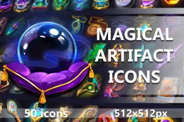 Magical Artifact RPG Game Icons