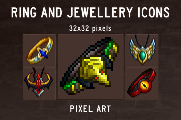 Ring and Jewellery Pixel Art Icons