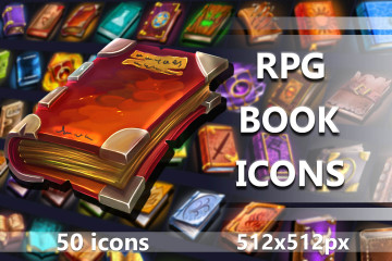 Free 50 RPG Book Icons