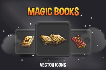 Magic Book Vector Game Icons