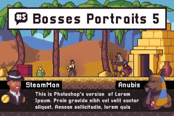 Monster Portraits Pixel Art