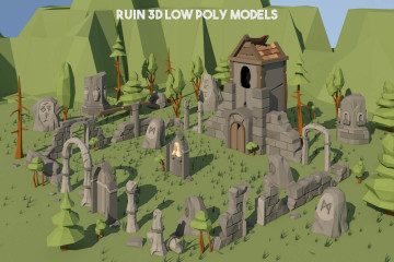 Ruin 3D Low Poly Models
