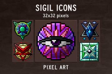 Sigil RPG Game Icons Pixel Art