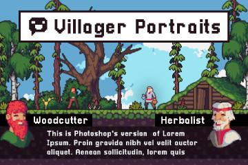 Villager Portrait Pixel Art Assets