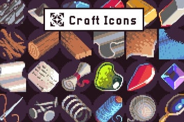 40 Icons for Crafting Pixel Art Pack