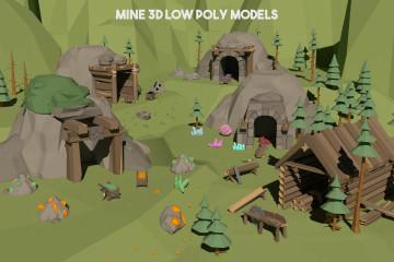 Mine 3D Low Poly Models