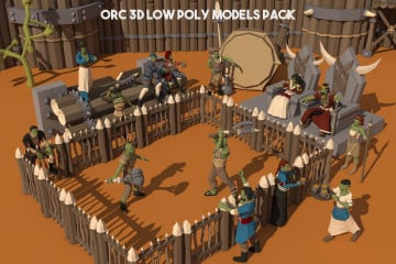 Orc 3D Low Poly Models Pack