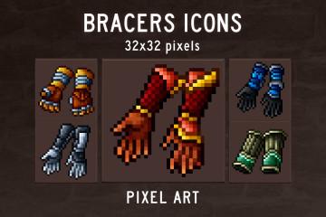 Bracers Pixel Art Icons