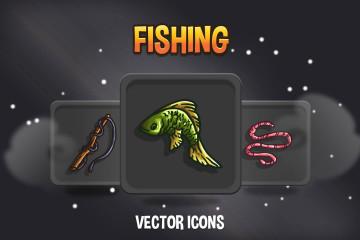 Fishing Game Icons