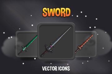 48 Sword RPG Icons