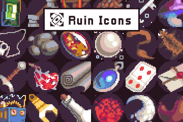 Free 40 loot Icons Pixel Art