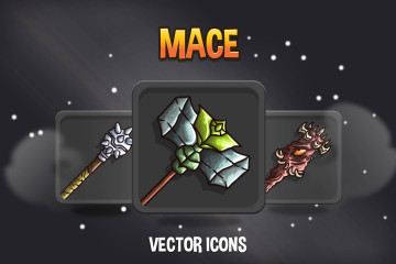 Mace RPG Game Icons