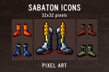 Sabaton Pixel Art Icon Set
