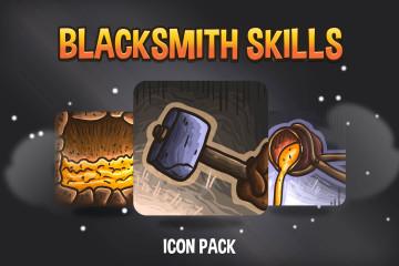 48 Blacksmith Skills Icon Pack