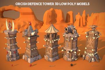 Battle Tower 3D Low Poly Models