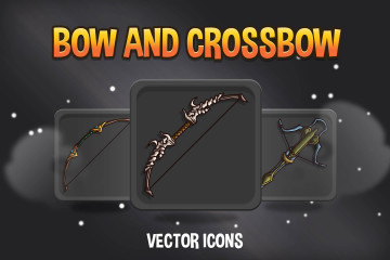 Crossbow and Bow RPG Icons