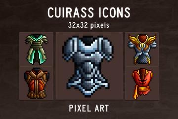 Cuirass RPG Pixel Art Icons