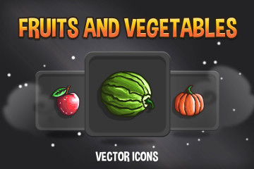 Fruit and Vegetable RPG Icons