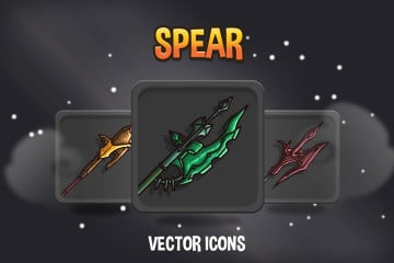 Spear RPG Game Icons